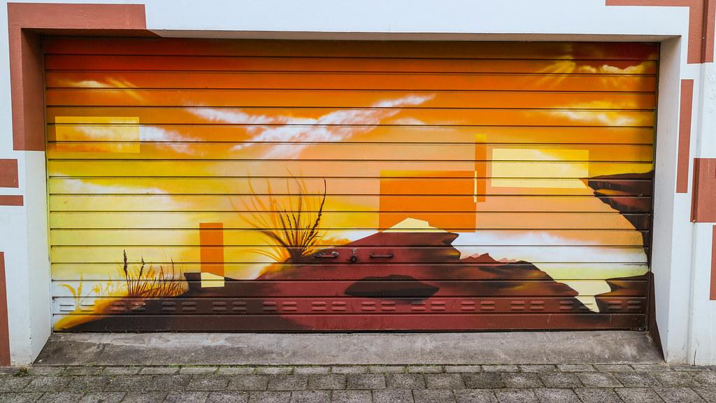 Elegant Canyon On Door (SpotShot) Tags: Door Canon Eos Graffiti 22 Garage Spray M