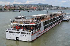 Viking Legend (Alexei L) Tags: city sky building water architecture clouds river boat europe hungary capital budapest viking legend danube
