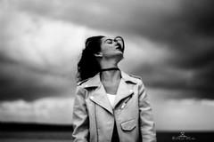 Smell the Life (89lilly) Tags: smell thelife life vita profumo vento ritratto sister sorella model modella portrait explore blackandwhite black white grey bianco nero biancoenero barisardo sea mare andscape storm clouds canon550d canon city parfum shot shots shooting love lovephotography lovephoto wind autumn autunno grana sgranare sgranato effetti effects