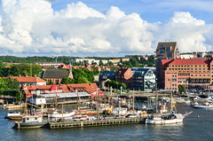 Arriving in Gteborg by ferry (jbdodane) Tags: alamy161016 city cycletouring cyclotourisme europe freewheelycom goteborg sweden jbcyclingnordkapp alamy