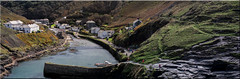 Boscastle (Boba Fett3) Tags: boscastle cornwall kernow harbour seaside coast coastline westcountry sea water panoramic photostitch canon100mm28l canon100d rocks holidays