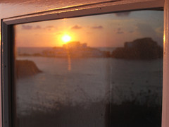 sa mesquida sortida del sol reflected (the incredible how (intermitten.t)) Tags: samesquida salidadelsol sortidadelsol amanecer sunrise menorca espaã±a balearicislands baleares illesbalears minorca sea sky cloud reflection window glass alternativesunrise 20160925 8196