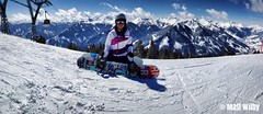 Panoramic on the piste! (matt-wilby) Tags: girlfriend snowboard snowboarder panoramic mountains austria