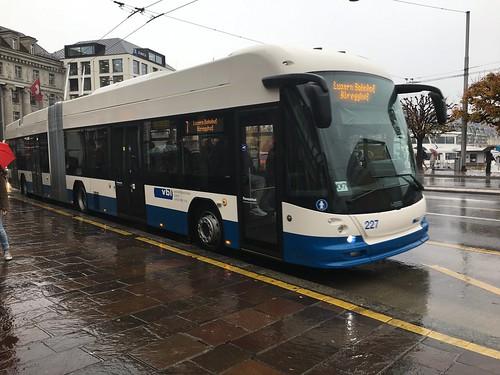 VBL Trolleybus #227 in Lucerne, Switzerland