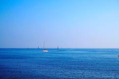 Autumn Summer flavored (explored 2016/11/03) (Fnikos) Tags: blue sea seascape water mediterranean boat sailboat sky skyline vehicle outdoor