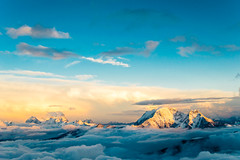 Somewhere in paradise (andrii_lutsyk) Tags: above abstract aerial background beautiful beauty calm caucasus cloud clouds cloudscape dawn dramatic dreamy dusk evening fly fog freedom god heaven horizon landscape light morning mountain nature outdoor panorama peaceful peak sky success sun sunrise sunset sunshine top tourism travel vacation view weather mountains elbrus adventure