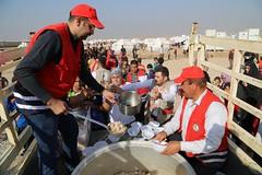 عمليات الاغاثة وتقديم المساعدات الى العوائل النازحة من مختلف قرى ومناطق محافظة #نينوى (9) (جمعية الهلال الاحمر العراق) Tags: نينوى مساعداتانسانية مساعدات موصل