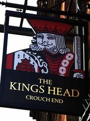 Kings Head- Crouch End (Draopsnai) Tags: kingshead pub pubsign king playingcard crouchendhill crouchend haringey