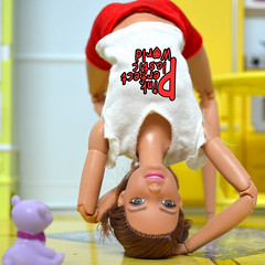 day 16 a (pinkperfectplasticworld) Tags: djy08 barbie pink perfect plastic world int jour day nikon doll dolls poupe poupes puppen bambole poppen bonecas dockor nuket dukker  yoga     blue top fitness bambi made move mtm 2015 mueca muecas mattel 16 sport