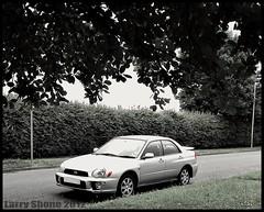 2001 Subaru Impreza (larry_shone) Tags: car subaru impreza urban scooby selectivecolour
