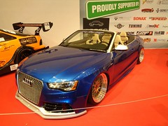 Audi A5 Cabrio (911gt2rs) Tags: messe event show cabriolet 8t tuning tief low stance blau blue spoiler s5 airride airlift slammed custom