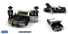 The 'Bluesmobile' - 1974 Dodge Monaco Cop Car - (The Blues Brothers - 1980) (lego911) Tags: bluesmobile blues brothers thebluesbrothers dodge monaco 1974 sedan police cop cruiser 1970s classic 1980 film movie comedy auto car moc model miniland lego lego911 ldd redner cad povray chrysler usa america lugnuts challlenge 108 9th birthday lugnutsturnsnine turns nine 34 thescuzzandthefuzz scuzz fuzz saloon musician