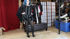 Oh, Its You (Fanta_Productions) Tags: toetapping costumes witch bluehair thighhighstockings stockings shoefetish maryjaneshoes maryjanepumps