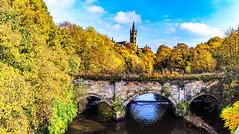 Kelvin Bridge (ianmiddleton1) Tags: riverkelvin kelvin glasgow panorama fall autumn autumnal hdr hss sliderssunday