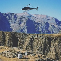 Collage #timing #helicopter #mountains #working #menatwork #fly #bluesky #people #peopleinframe #nature
