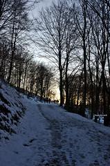 Trail to the sunset (RoyBatty83) Tags: pentax pentaxk5 k5 kitlenses pentaxda1855wr pentaxiani pentaxda1855alwr pentaxkitlenses pentaxkitlense da1855wr 1855 tappo tappowr weatherproof weatherresistant snow mountain mountains mountainsandclouds hike trekking trail walking tuscanyappennine tuscany toscana appennino appenninotoscoemiliano appennine