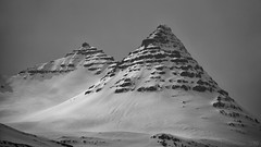 a new episode of Twin Peaks, East Iceland style (lunaryuna) Tags: iceland easticeland landscape mountains mountainscape twinpeaks spring relapseofwinter snowcovered weathermood blackwhite bw monochrome lunaryuna