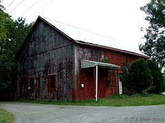 Unfinished (Picsnapper1212) Tags: barn paint peeling red weathered scene farm agriculture ohio butler county