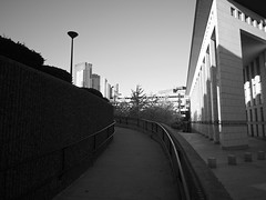 walk up out of the shadows (iMatthew) Tags: brutalism brutalistarchitecture architecture bostonarchitecture boston governmentcenter bw