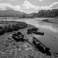 "_MG_2144 (Rutx"") Tags: black white bn bw barcas boats ribadesella spain espaa 2016 astries"