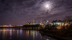 Night View from Portage Bridge : November 14, 2016 (jpeltzer) Tags: ottawa night moon supermoon parliament parliamenthill portagebridge