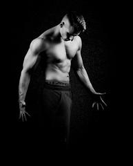 The Force within me (dandrasphoto) Tags: andras deak vagyim avakov muscle izom er strong force fekete fehr black white blackandwhite portr portrait fitness workout canon 1d mkiv mk4