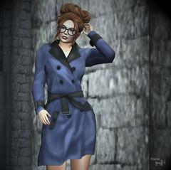 ~243~ Trench Coat Angel (Ana ~ Fashion Graffiti Blog) Tags: secondlife fashion slink laq 7deadlys{k}ins lostfound truthhair ikon monalisa on9 avaway theoak zibska shinyshabby eternaldreamsposes