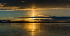 Sunrise at Dennis Beach (James P. Mann) Tags: dennis beach new brunswick sunrise water ocean tide tidal bore sundog december cold beautiful