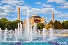 Haghia Sophia in Istanbul (Dibrova) Tags: haghia aya sofia sofya sophia istanbul mosque turkey cathedral church fountain sultanahmet constantinople arabic architecture asia byzantine islam landmark middleeast muslim temple turkish worship