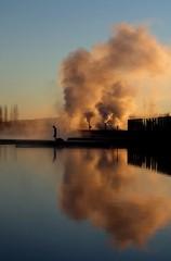 Laugarvatn (oeiriks) Tags: lake laugarvatn iceland sunset steam laugarvatnfontana winter water hotspring oeiriks