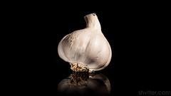 Garlic (#Weybridge Photographer) Tags: adobe lightroom canon eos dslr slr 5d ii mkii garlic bulb reflect reflection reflecting studio black background clove cloves