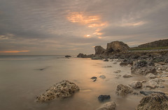 A Hint of Light (Glenn D Reay) Tags: southshields trowrocks coast coastal dawn morning sunrise sea rocks longexposure pentaxart pentax k30 sigma1770hsm glennreay