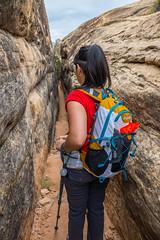 Canyonlands (joshbousel) Tags: kristin canyonlands canyonlandsnationalpark cheslerparktrail kris needlesdistrict northamerica people travel unitedstates unitedstatesofamerica usa ut utah nationalpark