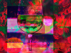 There is Nothing Like Good Company & Good Wine (soniaadammurray - On and off will try to keep up!) Tags: digitalphotography manipulated experimental abstract collage red sliderssunday wine quote williamsokolin smile drink friendship