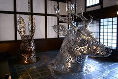 beasts of letters (troutfactory) Tags: 大西治 osamuoonishi sculptures animals writing kanji sasayamaartfestival sasayama artfestival art artwork 篠山市 関西 kansai 日本 japan ricohgrd2 digital