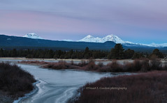 Pastel Dawn (chasingthelight10) Tags: events photography landscapes mountains reservoirs sunrise places oregon centraloregon tumaloreservoir otherkeywords dawn threesisters cascaderange southsister northsister middlesister