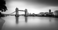 Tower Bridge (Geoffrey Gilson) Tags: tower bridge london city cityscape long exposure black white silver efex river thames building architecture