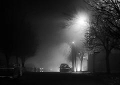 Misty Hill (Cagey75) Tags: helios manual focus fuji xt1 november 442 bw mist eerie street moody