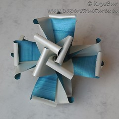 Maltese Cross  (K16042) (Origami Spirals) Tags: curler paper fold twirl origami burczyk folding art krysbur