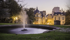 View of Rennes (DymFilms) Tags: park thabor rennes france europe bleu hour water fountain urban nature scenery canon eos 6d 2470 dymfilms
