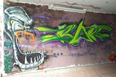 Bar (Ruhrgebiets Farben) Tags: graffiti 2002 hall fame schrenkamp tunnel gladbeck