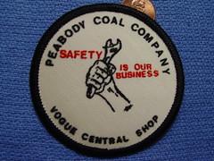 Peabody Coal Company, Vogue Central Shop patch (Coalminer5) Tags: mining patch coal peabody miner miners coalminer coalmining sewonpatch peabodycoal miningartifacts powerforprogress peabodyenergy coalmemorabilia coalcollectibles miningmemorabilia miningcollectible