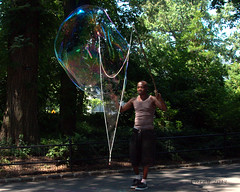 The Bubble Man of Central Park (johncarey/) Tags: newyork centralpark bubbles tips streetperformer