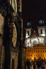 (Monitotxi) Tags: travel church night spring nikon europe prague czechrepublic 2013 d80 churchofourladybeforetn 35mmf18g