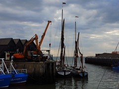 After the barge match (NovemberAlex) Tags: water boats kent seaside harbour whitstable