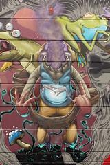 inner beasts (Pixeljuice23) Tags: streetart graffiti wiesbaden friendlyfire innerbeast urbandisturbance pixeljuice pixeljuice23