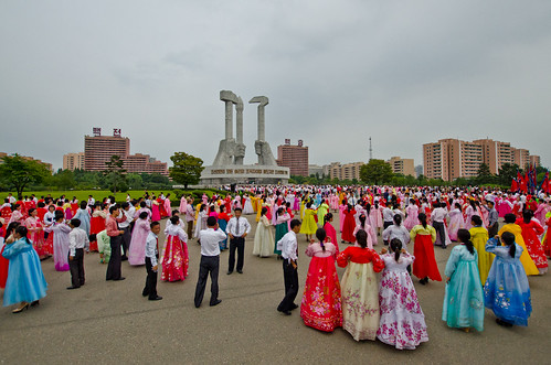 Mass Dancing at Party Foundation Monument