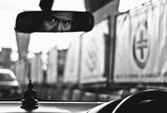 """""""On the back of my head"""" (Angelo G.I.O.) Tags: road people bw streets reflection composition contrast thailand 50mm mirror blackwhite eyes nikon focus eyec"""