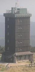 1938 Brocken Wetterwarte auf 1.142m .NN bei 38779 Schierke (Bergfels) Tags: 1938 brocken turm harz beschriftet schierke 3reich 1930er nn wetterwarte bergfels 1142m 20jh architekturfhrer 38779