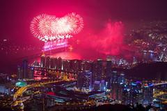 2013 Busan International Fireworks Festival (DMac 5D Mark II) Tags: city longexposure festival night evening cityscape fireworks busan southkorea pusan 2013busaninternationalfireworksfestival